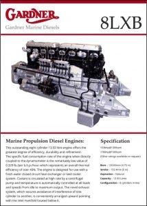 Gardner 8LXB diesel engine Brochure
