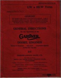 Gardner LW diesel engine General Directions