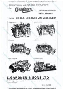 Gardner LX diesel engine Operating & Maintenance Instructions