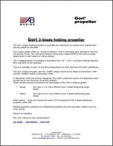 Gori 3-blade folding propeller Shaft Installation Instructions
