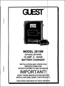 Guest 2815M Battery Charger Installation
