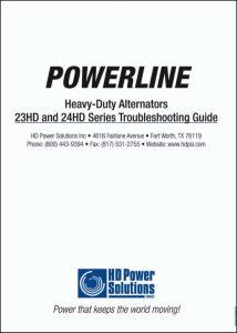 HD Power 23HD, 24 HD Series Alternator Troubleshooting Guide