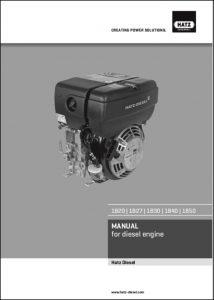 Hatz 1B20 diesel engine Manual