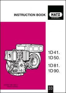 Hatz 1D41 diesel engine Instruction Book