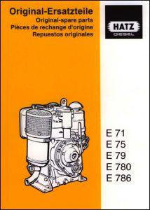 Hatz E71 diesel engine Spare Parts 1999