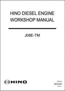 Hino J08E-TM diesel engine Workshop manual