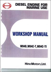 Hino W04D marine diesel engine Workshop Manual