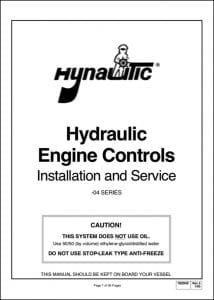 Hynautic Engine Control Installation