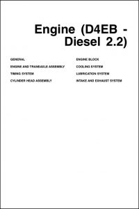 Hyundai D4EB 2.2 diesel engine Repair Manual