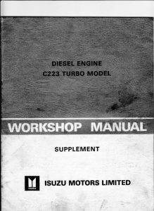 thumbnail of ISUZU-C223-Turbo-W-Shop-Manual