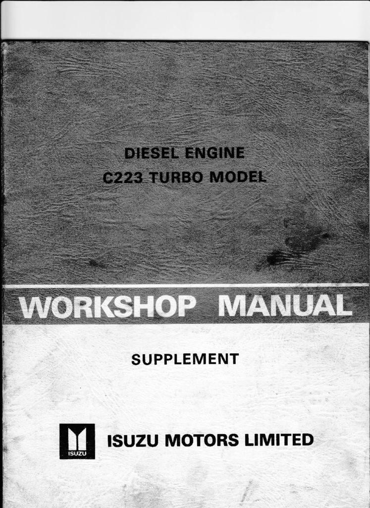 thumbnail of ISUZU-C223-Turbo-W-Shop-Manual