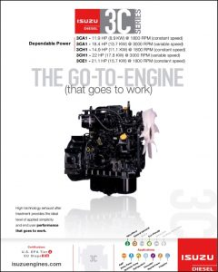 Isuzu 3C Series diesel engine Brochure