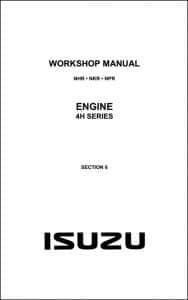 Isuzu 4H Series Diesel Engine Workshop Manual