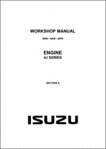 Isuzu 4J Series Diesel Engine Workshop Manual