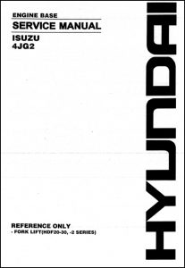 Isuzu 4JG2 Diesel Engine Service Manual