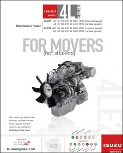 Isuzu 4L diesel engine Series Brochure