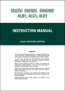 Isuzu 4LB1 diesel engine Instruction Manual