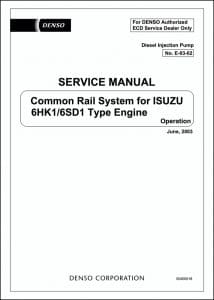Isuzu 6HK1 diesel engine Common Rail Service Manual