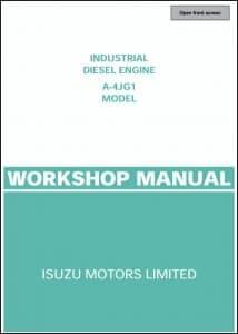 Isuzu A-4JG1 diesel engine Workshop Manual