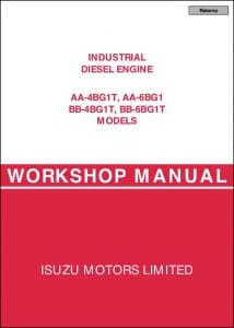 Isuzu AA-4BG1T Diesel Engine Workshop Manual