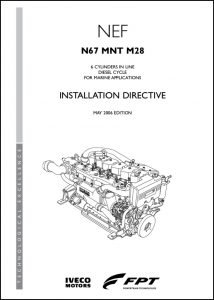 Iveco N67-MNT-M28 diesel engine Installation Directive