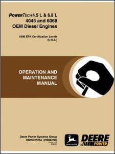 John Deere diesel engine 4045 Operation manual
