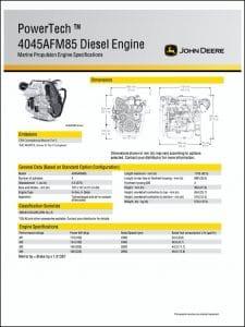 JDeere 4045AFM85 marine diesel Brochure