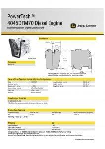 John Deere 4045DFM85 marine diesel engine Specifications