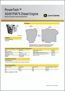 John Deere 4045TFM75 diesel engine Specifications