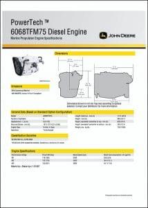 John Deere 6068TFM75 diesel engine Specifications