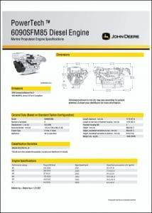 JDeere 6090SFM85 diesel engine specifications