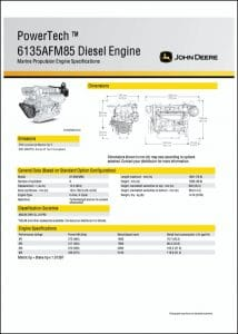 JDeere 6135AFM85 diesel engine Specifications