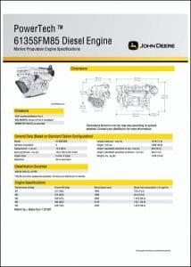 JDeere 6135SFM85 marine diesel engine Specifications