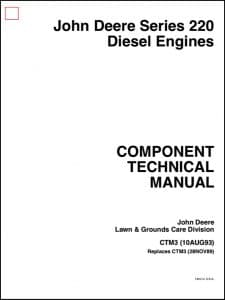 John Deere diesel engine Series 220 Component Technical Manual