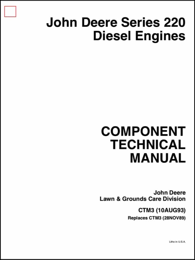 john deere diesel engine series 220 component technical manual rh marinedieselbasics com aftermarket john deere diesel engine parts john deere diesel engine service manual