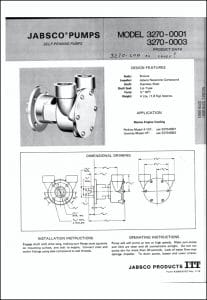 Jabsco 3270 Raw water Pump Brochure