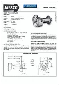 Jabsco 5850-0001 Raw Water Pump Data Sheet