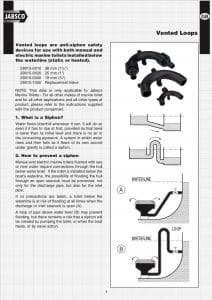 Jabsco Vented Loop 29015 Instructions