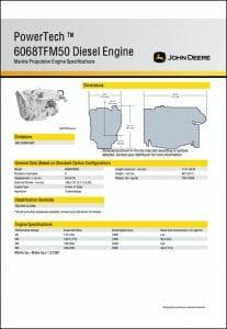 John Deere 6068TFM50 marine diesel engine Specifications