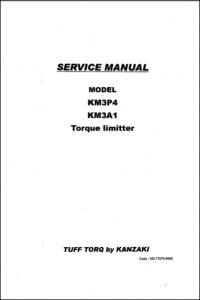 Kanzaki KM3P4 Torque Limitter Service Manual
