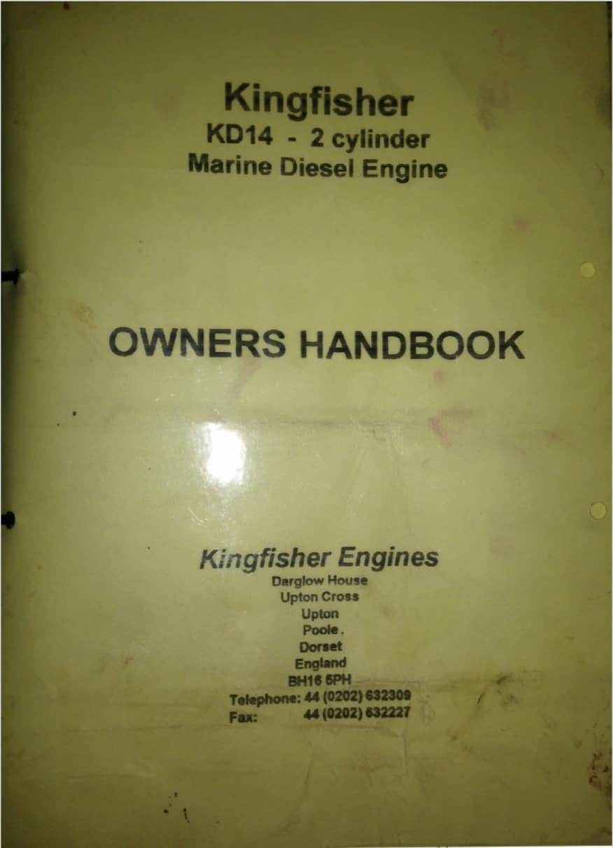 Kingfisher KD14 diesel engine Owner's Manual