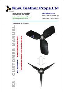 Kiwiprop K3 marine propeller Customer Manual