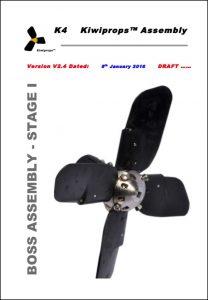Kiwiprop K4 marine propeller Boss Assembly v2.4 Instruction