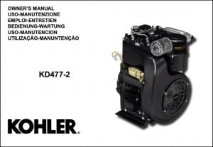 Kohler KD477-2 diesel engine Owners Manual