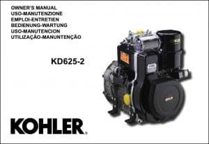 Kohler KD625-2 diesel engine Owners Manual