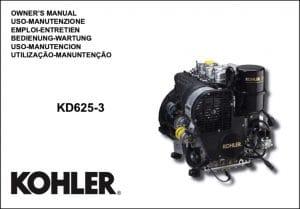 Kohler KD 625-3 diesel engine Owners Manual