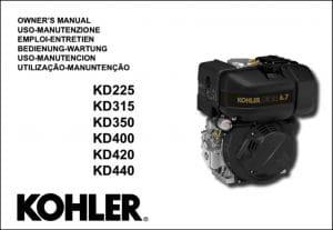 Kohler KD225 diesel engine Owners Manual