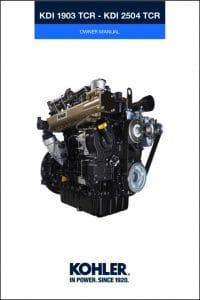 Kohler KDI 1903 TCR diesel engine Owner Manual
