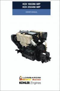 Kohler KDI 1903 TCR diesel engine Owner 2018