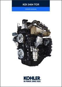Kohler KDI 3404 TCR diesel engine Owner Manual